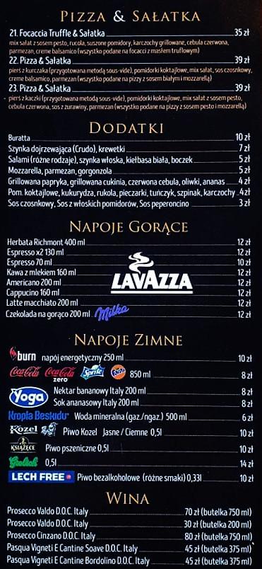 Menu Pizza Karpacz - La cosa Nostra strona 2